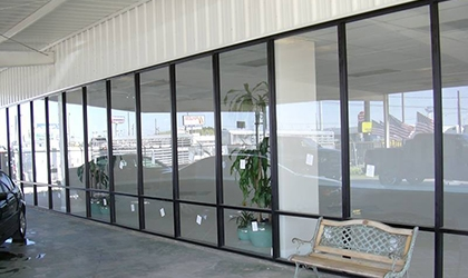 commercial window film on storefront