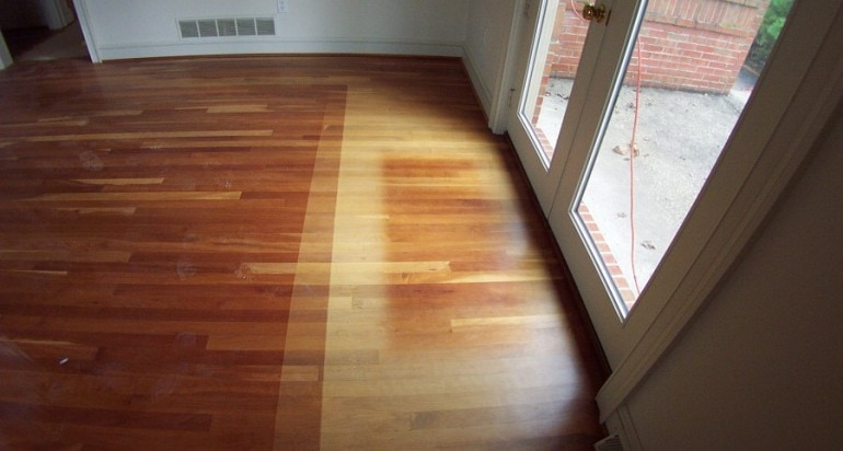 faded wood flooring